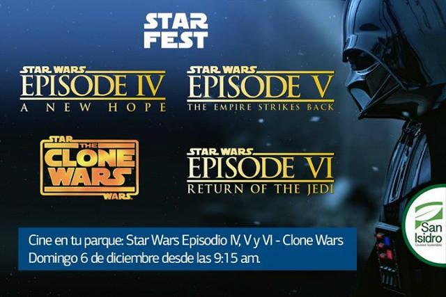 STAR FEST SAN ISIDRO   5 y 6 de Diciembre - Cine en el Parque