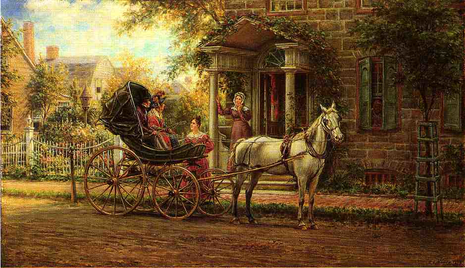 Stopping for a Chat by Edward Lamson Henry - 1889