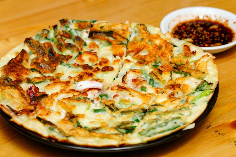 Sola Pocha Seafood Green Pancake