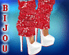 Red Holly Sweater Shoes