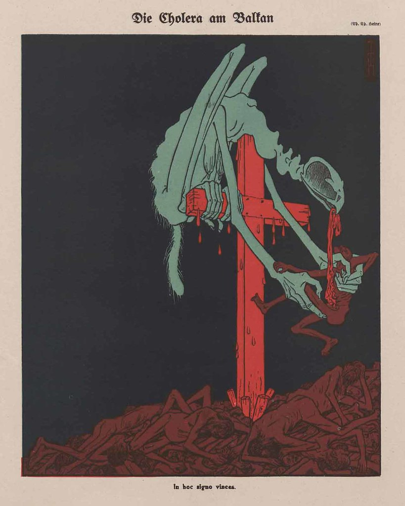 Thomas Theodor Heine - Cholera In The Balkans, 1912