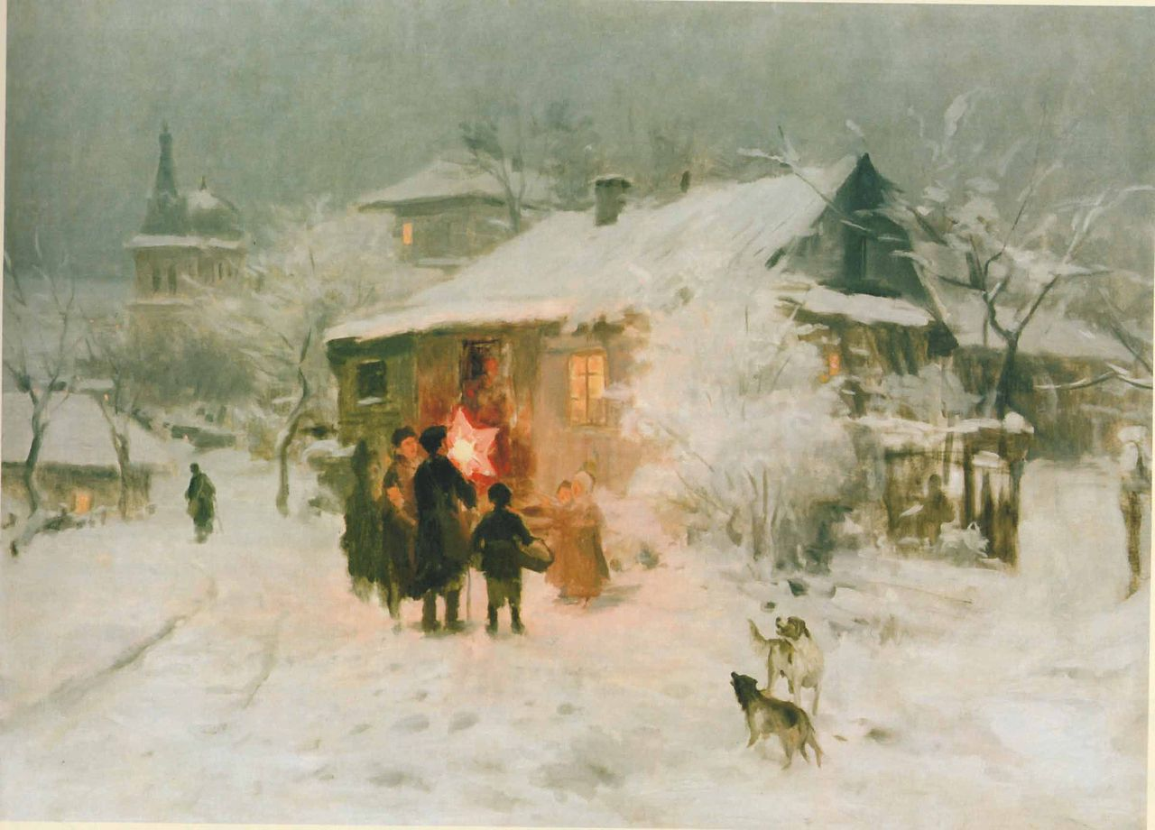 Christmas Time by Nikolai Pimonenko (Ukrainian, 1862 - 1912)