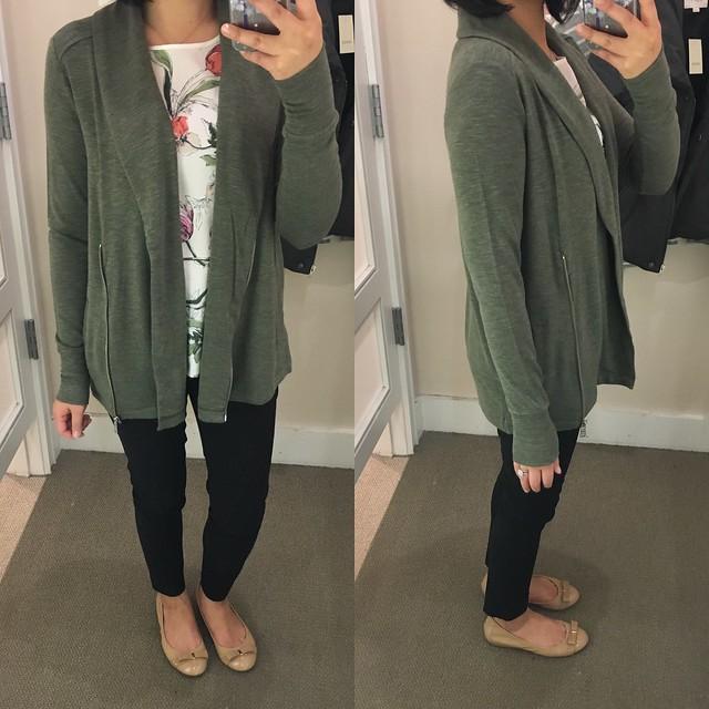 Lou & Grey Signaturesoft Shawl Jacket, size XS regular