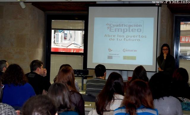 Instante de la presentación del Programa PICE en la Cámara de Comercio, Industria y Servicios de Salamanca.