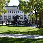 The Dr. Seuss National Memorial Sculpture Garden at the Quadrangle in Springfield, Massachusetts USA