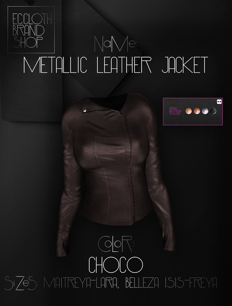 Metallic Leather Jacket AVAILABLE at MP! - SecondLifeHub.com