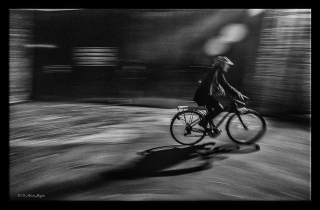 Night Cyclist [Explored], Fujifilm X-T1, XF16-55mmF2.8 R LM WR
