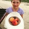 My little peach picker. #peaches