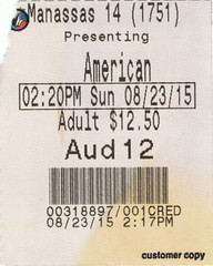 American Ultra ticketstub