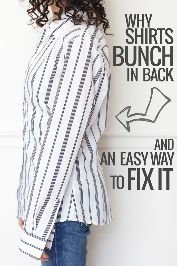 Why shirts bunch in back and an easy way to fix it