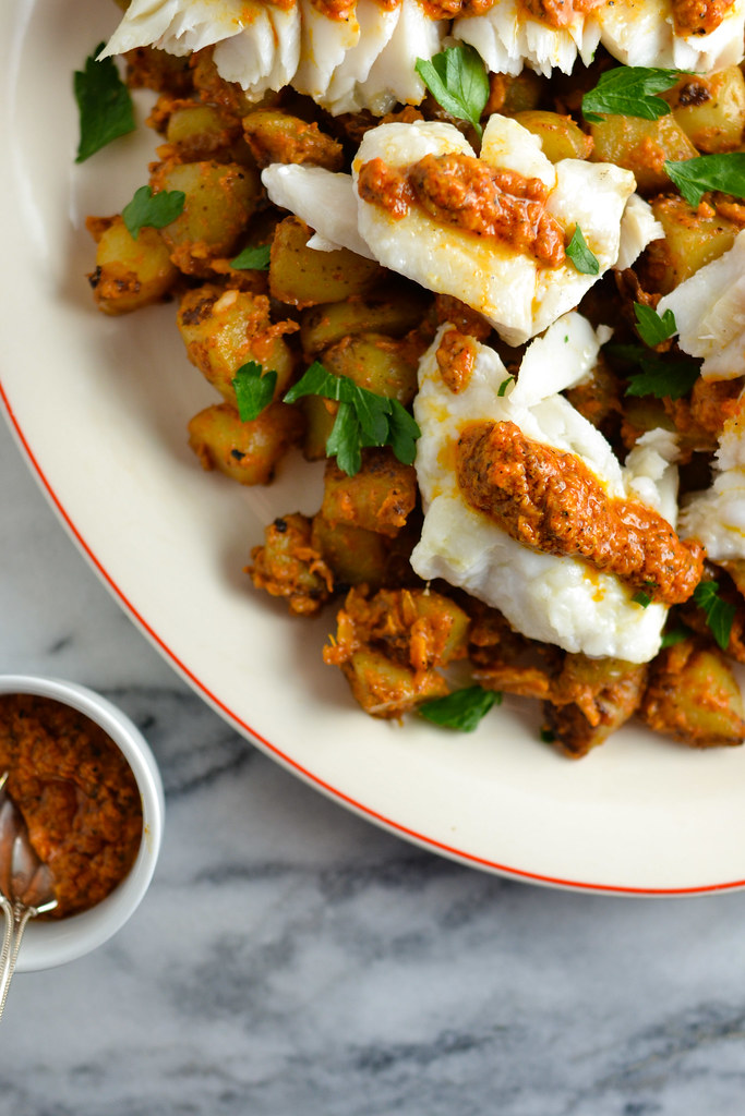 Cod and Potatoes with Romesco Sauce | Things I Made Today
