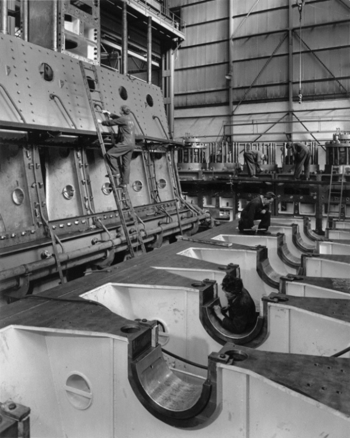 Work in progress on two Clark-Sulzer engines