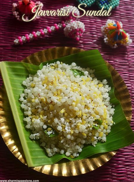 Sabudana Sundal Recipe
