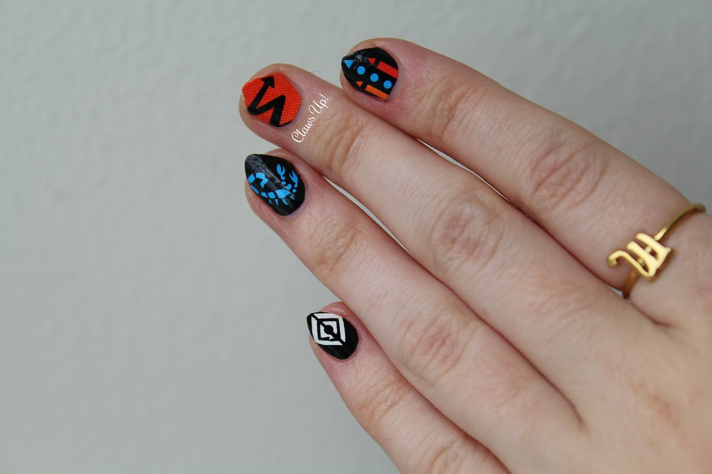 Scratch nail wraps zodiac collection Scorpio