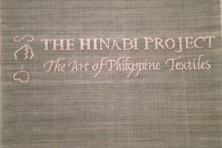Filipino American Month - Asian Art Museum Hinabi Project sign