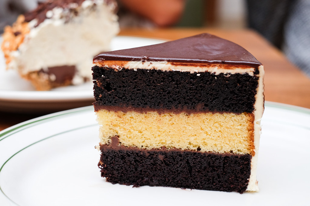 clinton street bakery: Black & white layer cake