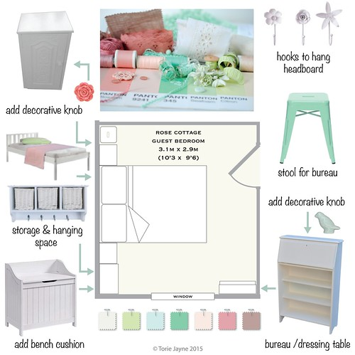 Rose Cottage bedroom design