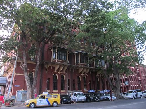 Yangon: un bâtiment colonial
