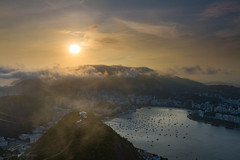 Sunset over Rio from Sugarloaf Mountain