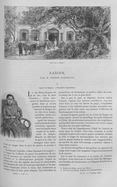 SAIGON par M. Pierre Barrelon (1) - LE TOUR DU MONDE (7-10-1893)