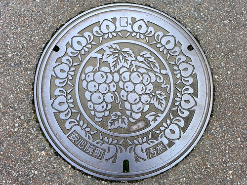 Ajimu Oita, manhole cover 2 (大分県安心院町のマンホール2)