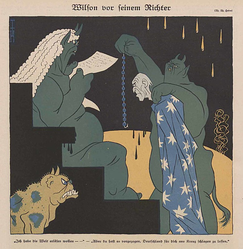 Thomas Theodor Heine - Wilson Before His Judges, 1924