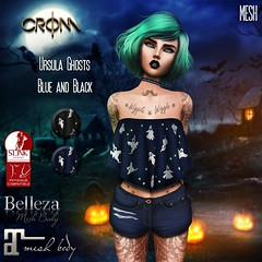 -CroM- Ursula Ghosts - Blue & Black TOPS = 5 L (HUNT Number 4)