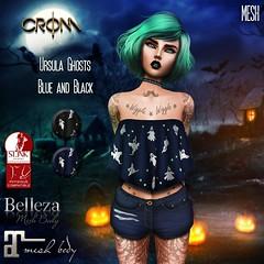 -CroM- Ursula Ghosts - Blue & Black TOPS = 5 L (HUNT Number 4)