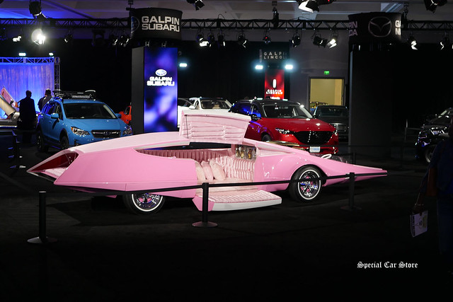Pink Panthermobile in Galpin Hall of Customs