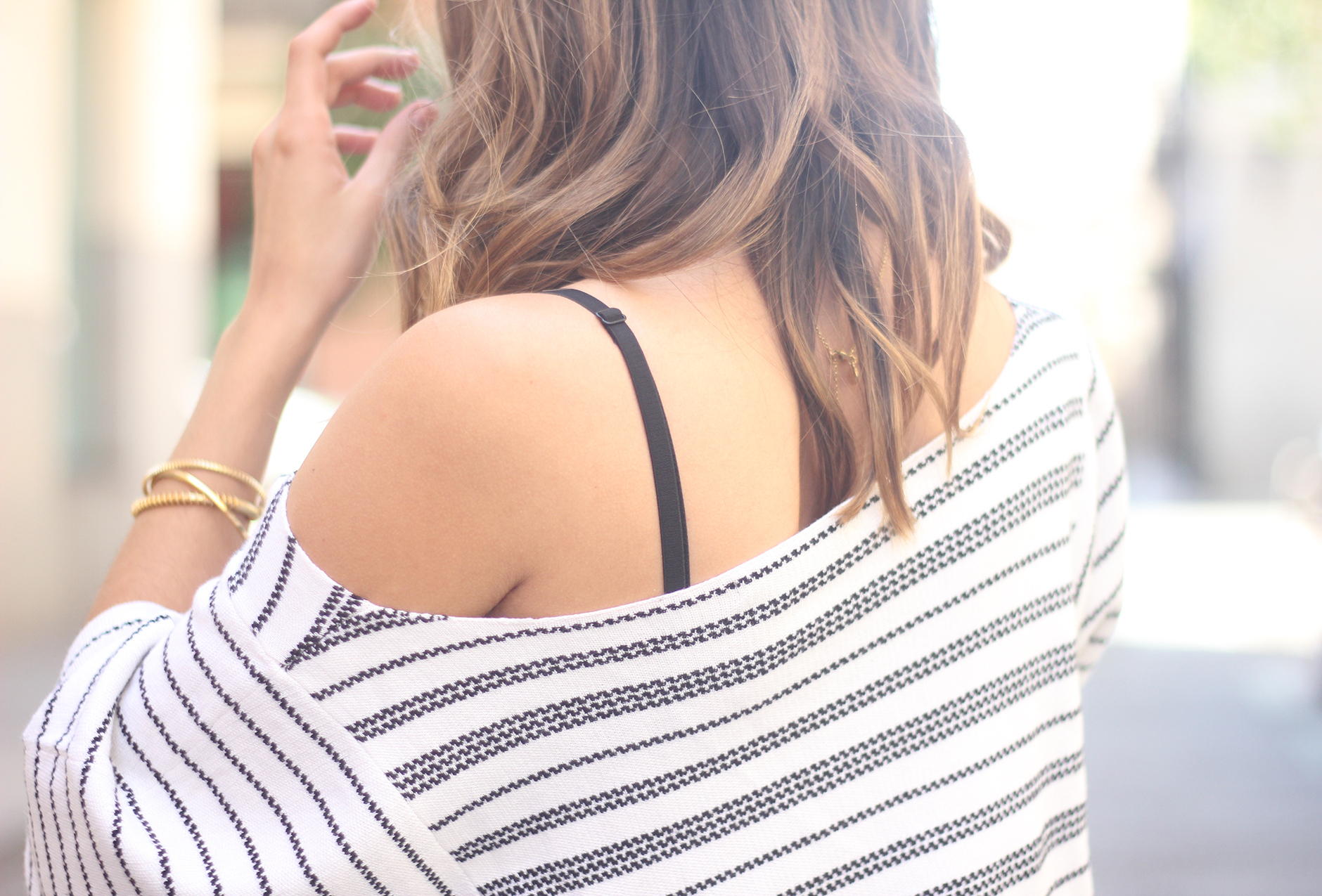 Casual Friday Jeans stripes top summer outfit17