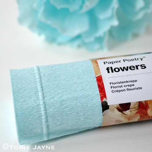 Light blue florist crepe