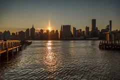 Manhattanhenge from Long Island City