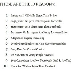 "Latest on my blog debunking ""10 Reasons Your Business Should be on Instagram"" -- Follow link in bio for the facts."