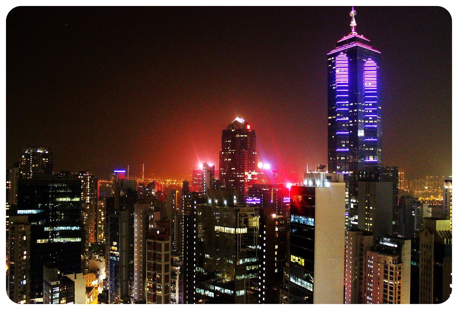 LKF hotel Hong Kong night views