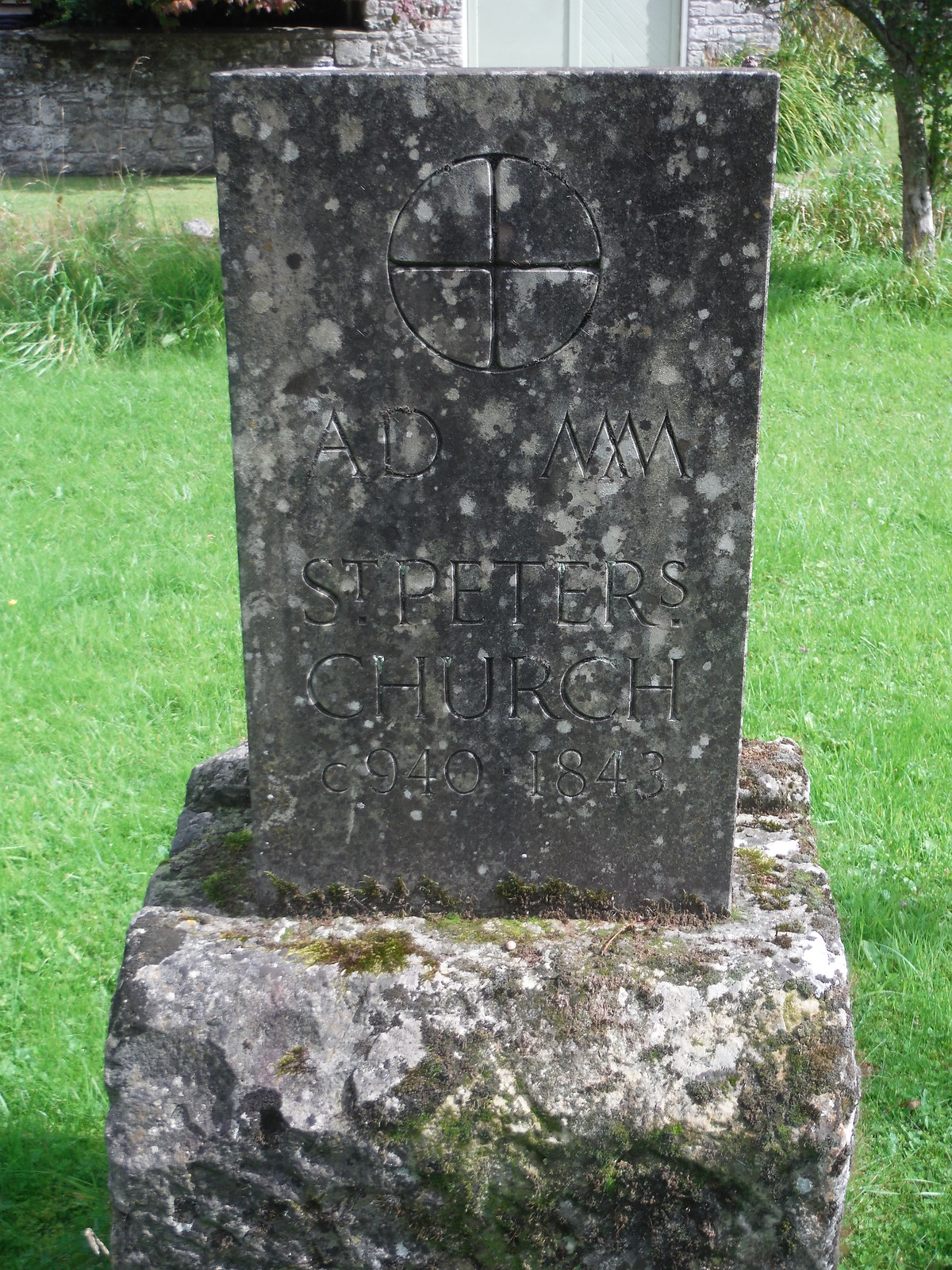 Memorial Stone for St. Peter's Church, Swallowcliffe SWC Walk 250 Tisbury Circular via Alvediston