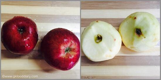 Ragi Apple Halwa for Babies