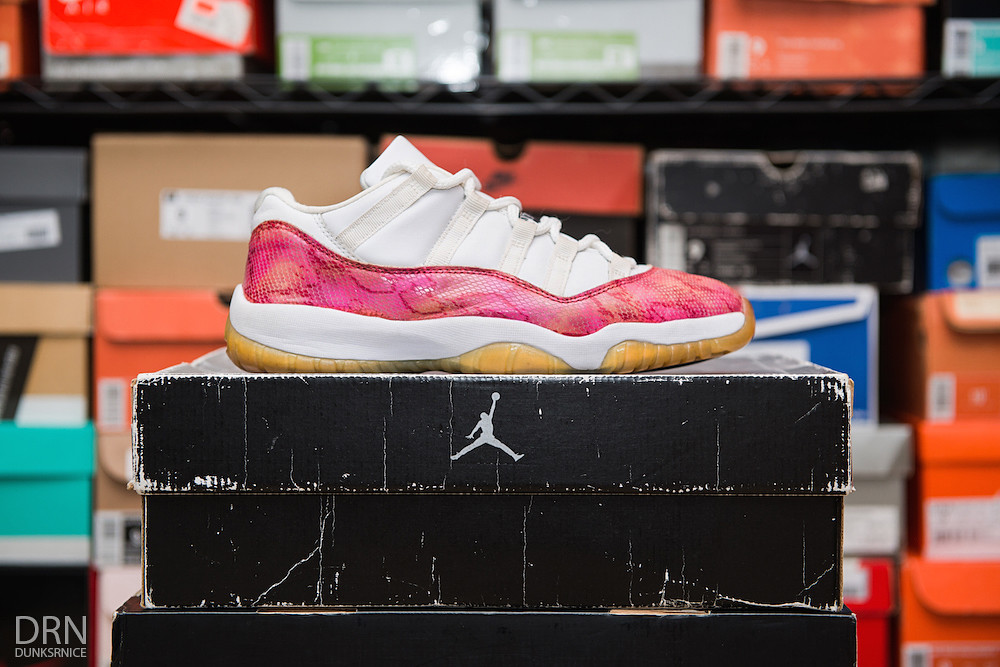 2001 Women's Pink Snakeskin Low XI's. First Pair.