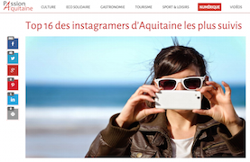 Top 16 des instagrammeurs en Aquitaine
