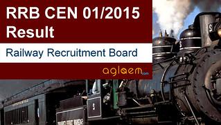 RRB JE and SSE Result (CEN 01/2015)