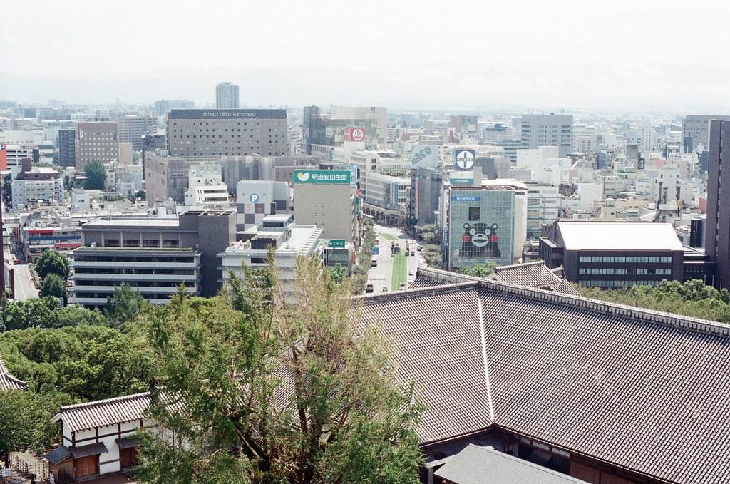 熊本城 熊本 Kumamoto 2015/09/06 爬上天守閣後的景色。  Nikon FM2 / 50mm Kodak UltraMax ISO400 Photo by Toomore