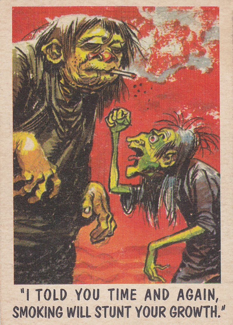"""You'll Die Laughing"" Topps trading cards 1959,  illustrated by Jack Davis (17)"