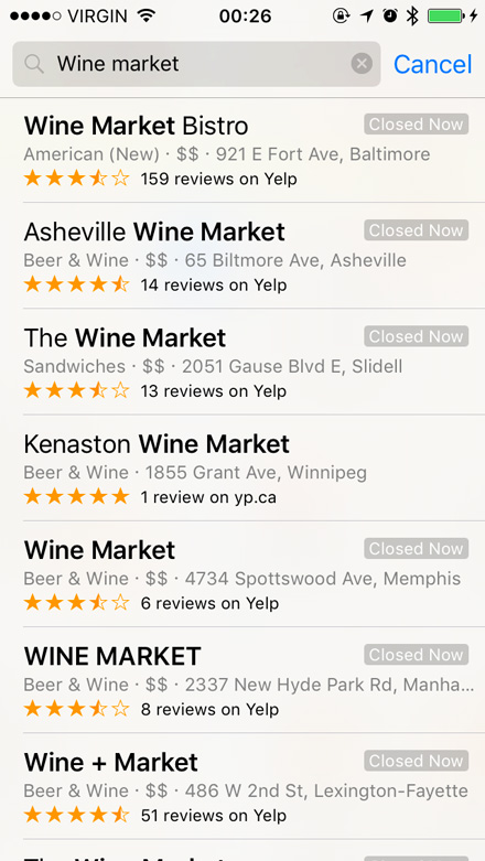 Wine Market search