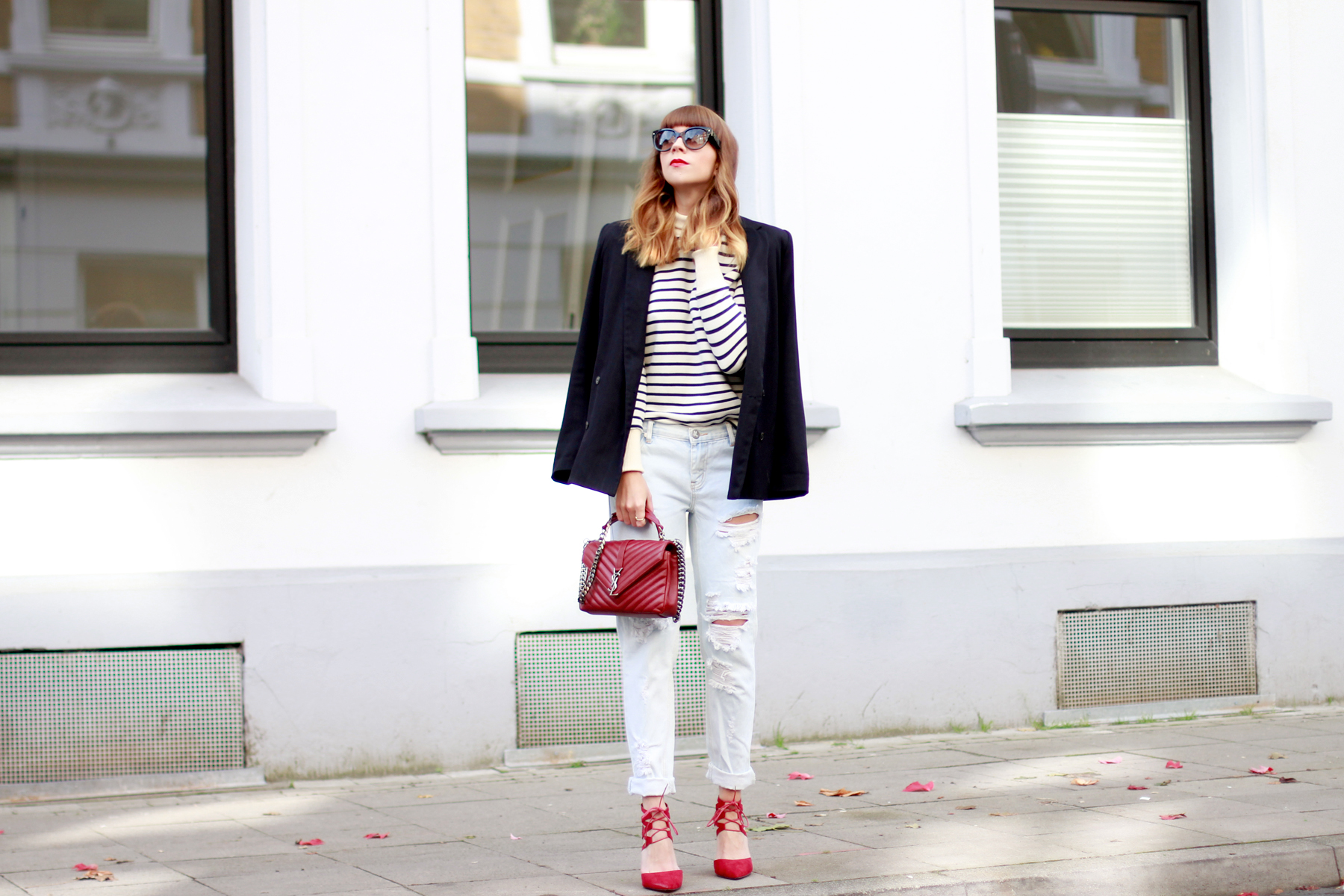 YSL Saint Laurent Paris outfit ootd styling fashion blogger stripe petit bateau one teaspoon aquazzura red minimal parisian cats & dogs blog ricarda schernus düsseldorf berlin 4
