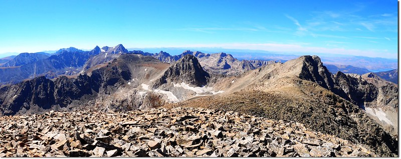 View south into Indian Peaks from the summit of Mount Audubon 2