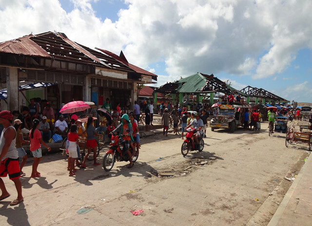 The Guian public market suffered extensive damage after Super Typhoon Yolanda