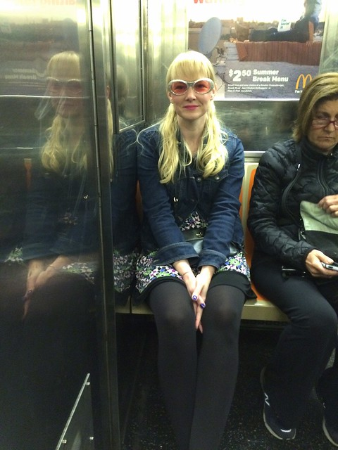 Lizzy on the subway