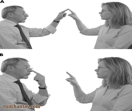 chẩn đoán run do tiểu não bằng cách chỉ tay vào mũi
