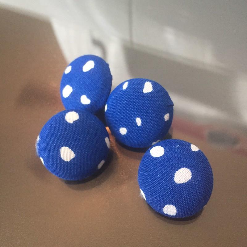 Blue Polka Dot Dress - In Progress