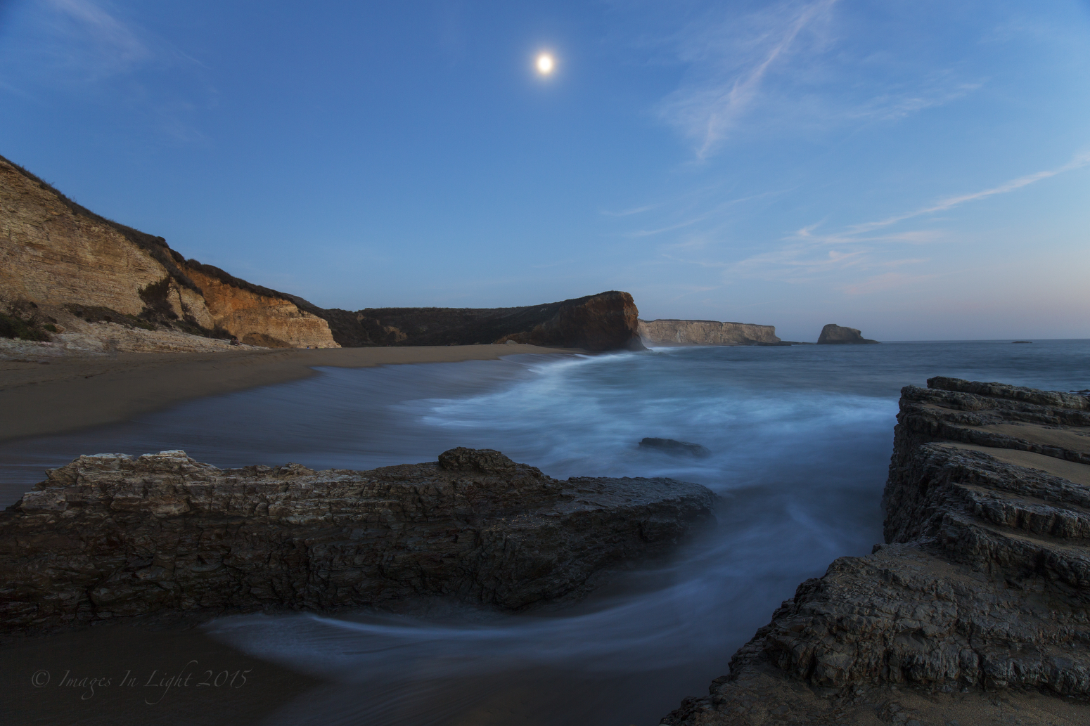 Moonrise at Panther Beach