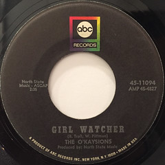 THE O'KAYSIONS:GIRL WATCHER(LABEL SIDE-A)